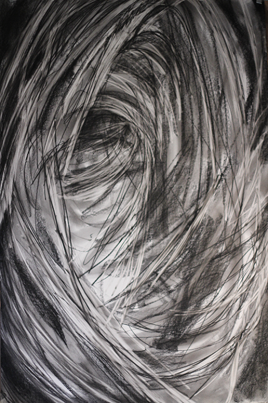 2014 Charcoal on paper 137cm x 97 cm
