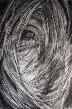 2014 Charcoal on paper 137cm x 97 cm