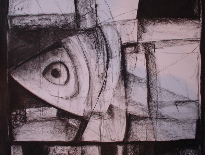 Charcoal on paper 100cm x 70cm