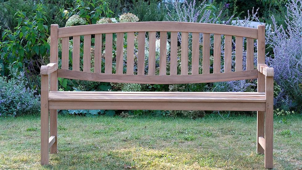 Okehampton - Solid Teak Oval Back Garden Bench