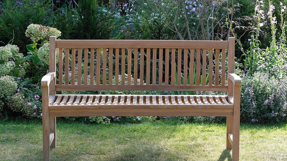 Brampton - Solid Teak Contemporary Garden Bench