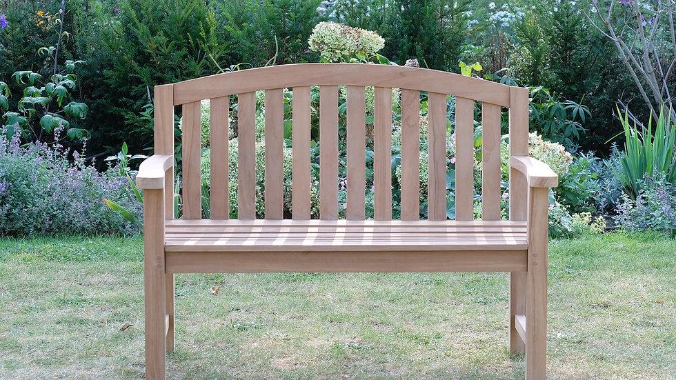 Castleford - Solid Teak Curved Garden Bench