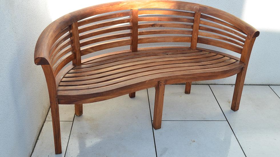 Brighton - Banana Bench - 3 Seater - Solid Teak Bench