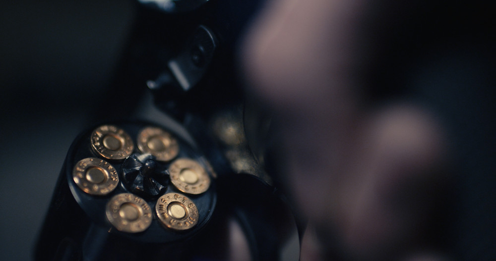 "Closeup of a Revolver, From the Movie ""Pickings"""