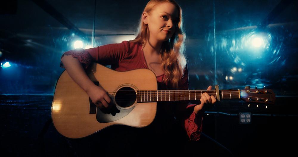 """Katie Vincnet, on the set of """"Pickings"""""""