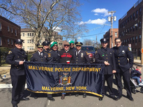 Malverne's Finest representing at the RVC St. Patrick's Day Parade!
