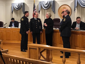 Louie Lara Sworn in at the Village Board Meeting on Wednesday January 4th 2018.