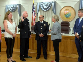 Malverne Police Reserve Officer Jack McCarren Sworn in at the September 5, Village Board Meeting.