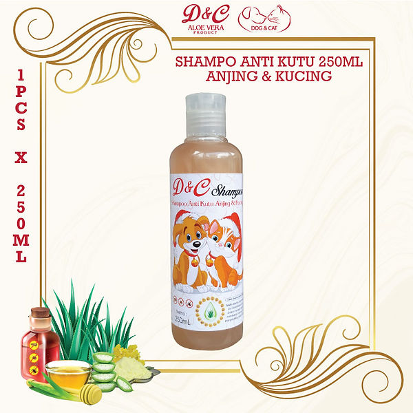 D&C-Shampo-Anti-Kutu-Anjing-&-Kucing-250