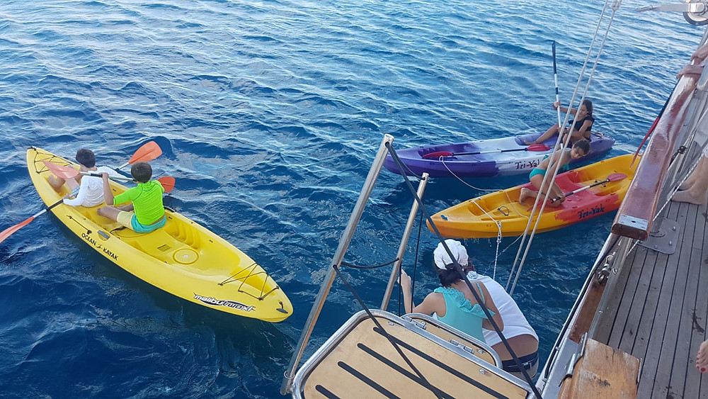 Fun water activities on charter with gulet Vito