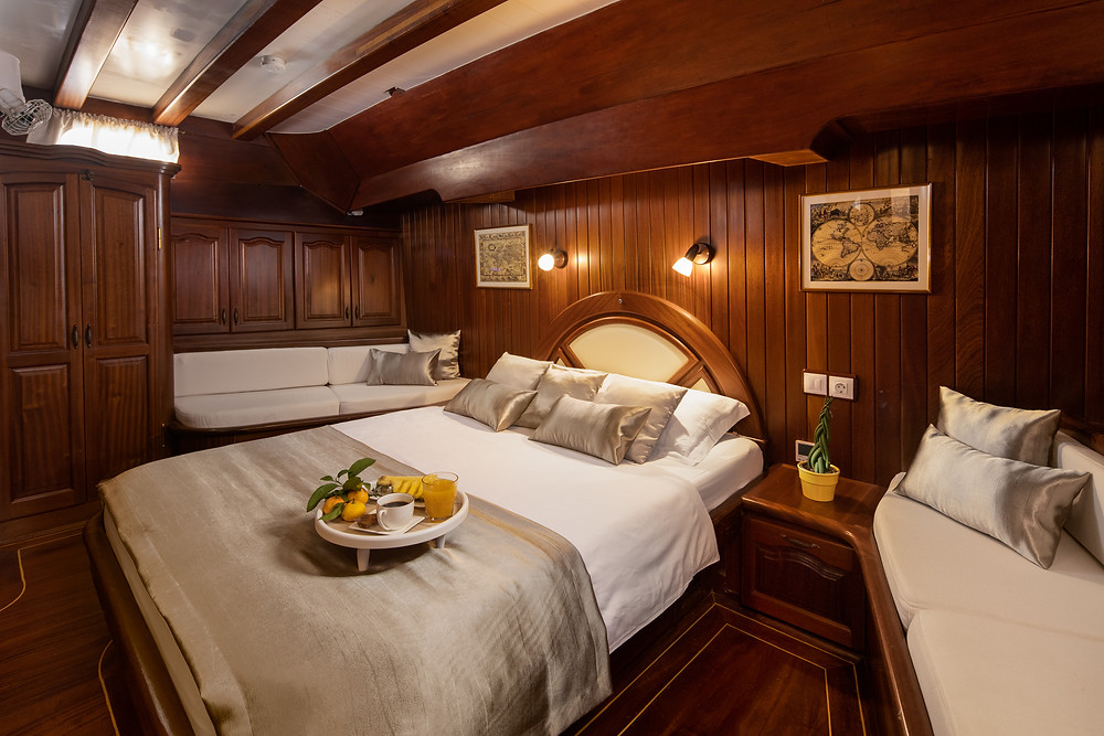 Spacious and elegantly designed cabins