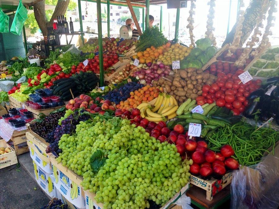 Local Market Food on the Island of Brač
