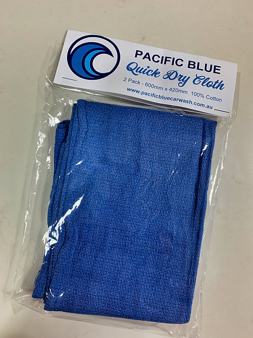 Pacific Blue Quick Dry Cloth X 2