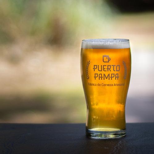 Vaso Pinta y  3 Botellas Cerveza Artesanal