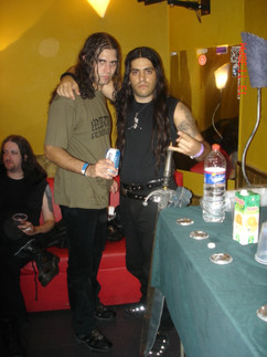 WITH FORMER MARDUK DRUMMER