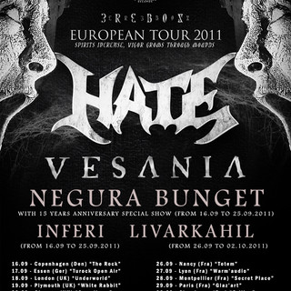 INFERI HATE EUROPE TOUR