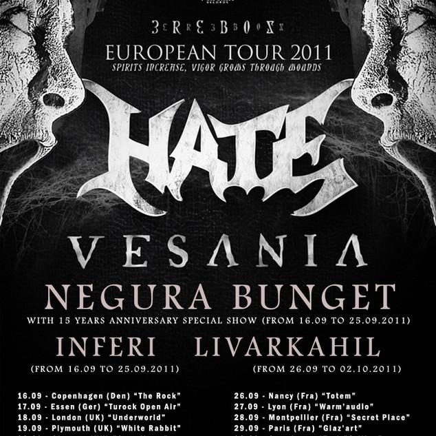 INFERI HATE EUROPE TOUR