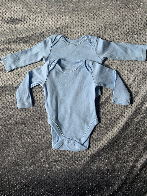 Baby long sleeved body suits 3-6 months