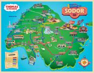 Sodor Map Illustration