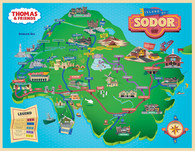Sodor Map Illustration