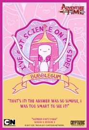Adventure Time Trading Card Design