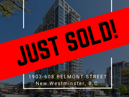 ✨ JUST SOLD BY ULIX Real Estate Group ✨ 1903-608 BELMONT STREET, NEW WESTMINSTER
