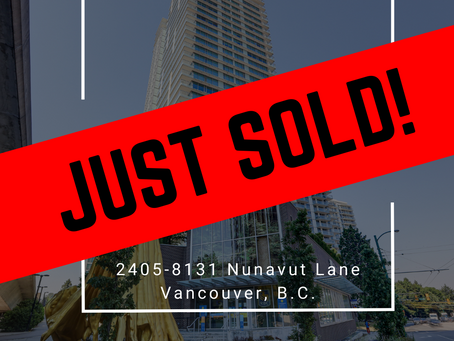 ✨ JUST SOLD BY ULIX Real Estate Group ✨ 2405-8131 NUNAVUT LANE, VANCOUVER