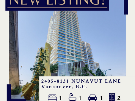 ✨ NEW LISTING BY ULIX Real Estate Group ✨ 2405-8131 NUNAVUT LANE, VANCOUVER