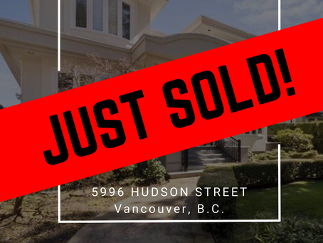 ✨ JUST SOLD BY ULIX Real Estate Group ✨ 5996 HUDSON STREET, VANCOUVER