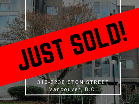 ✨ JUST SOLD BY ULIX Real Estate Group ✨310 - 2238 ETON STREET, VANCOUVER