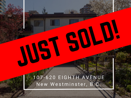 ✨ JUST SOLD BY ULIX Real Estate Group ✨ 107 - 620 EIGHTH AVENUE, NEW WESTMINSTER