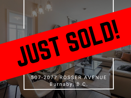 ✨ JUST SOLD BY ULIX Real Estate Group ✨ 507 - 2077 ROSSER AVENUE, BURNABY
