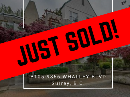 ✨ JUST SOLD BY ULIX Real Estate Group ✨ B105-9866 WHALLEY BOULEVARD, SURREY