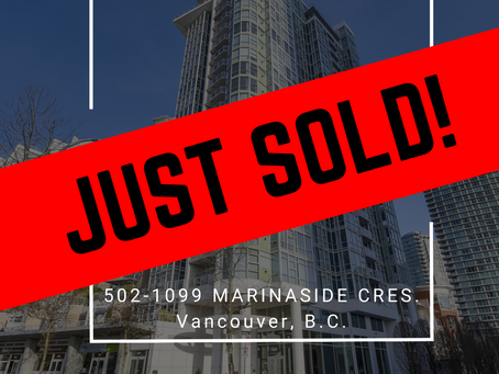 ✨ JUST SOLD BY ULIX Real Estate Group ✨ 502-1099 MARINASIDE CRESCENT, VANCOUVER