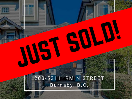 ✨ JUST SOLD BY ULIX Real Estate Group ✨ 208-5211 IRMIN STREET, BURNABY