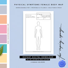 PHYSICAL SYMPTOMS FEMALE BODY MAP