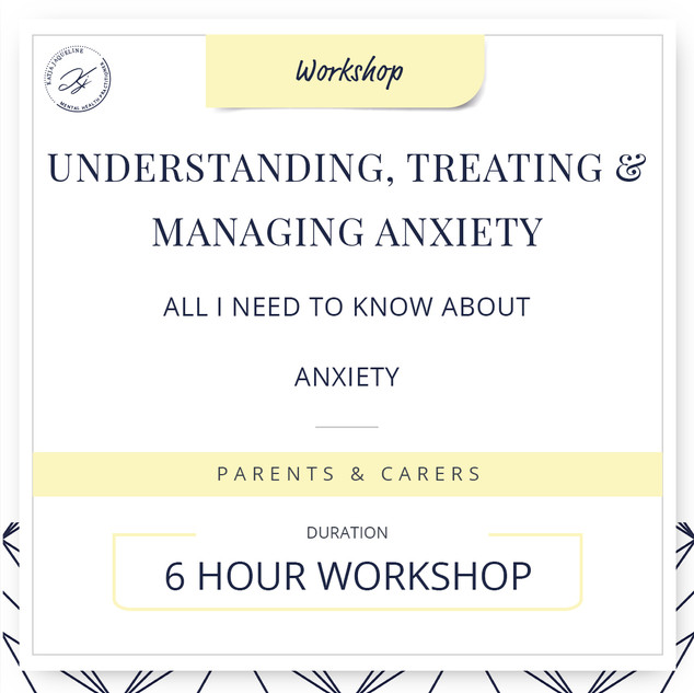 Understanding, treating and managing anxiety