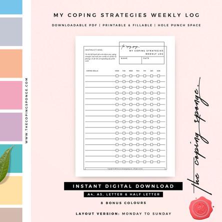 My Coping Strategies Weekly Log