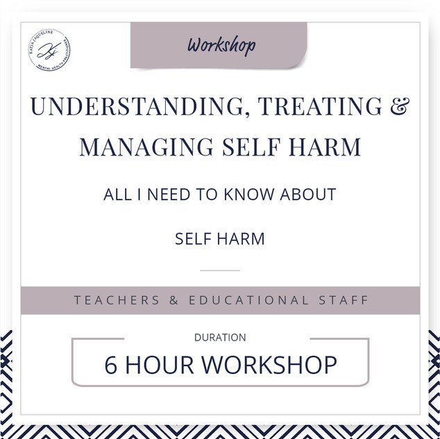 Understanding, treating and managing self-harm