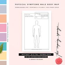PHYSICAL SYMPTOMS MALE BODY MAP