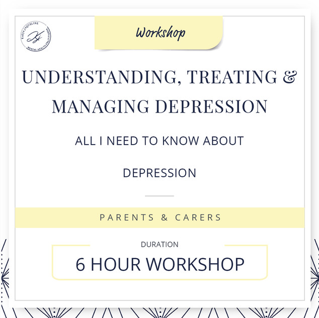 Understanding, treating and managing depression