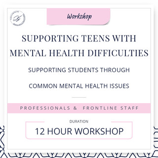 Supporting teens with mental health difficulties