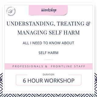 Understanding, treating and managing self-harm