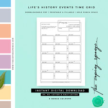 LIFE'S HISTORY EVENTS TIME GRID