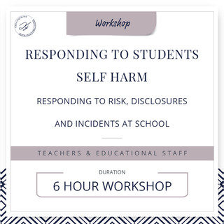 Responding to student's self-harm