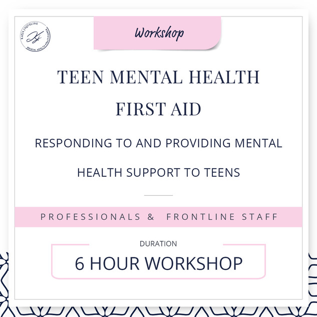 Teen mental health first aid