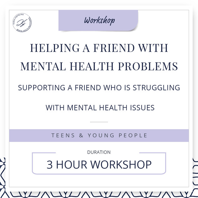 Helping a friend with mental health problems