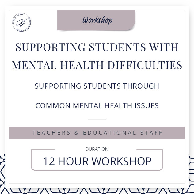 Supporting students with mental health difficulties