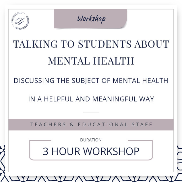 Talking to students about mental health