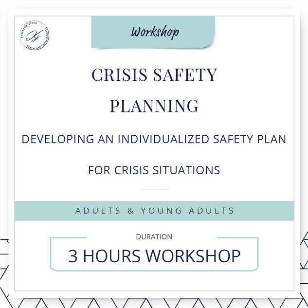 Crisis safety planning
